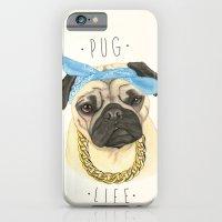 iPhone & iPod Case featuring Pug life - pug dog by PaperTigress
