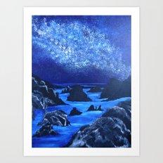 Seas and stars Art Print