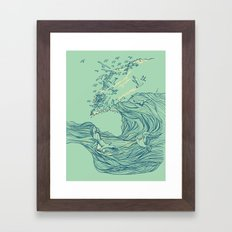 Ocean Breath Framed Art Print