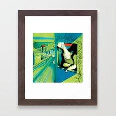 ORANGE ROOM Framed Art Print