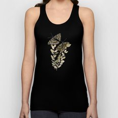 Two Brown Butterflies Unisex Tank Top