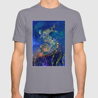 Sea Dragon. Mens Fitted Tee Slate SMALL