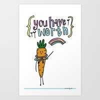 Worthy YOU. Art Print