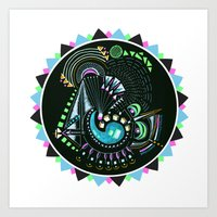 Formed in Space  Art Print