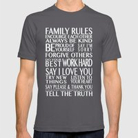 Family Rules Mens Fitted Tee Asphalt SMALL