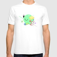 Tasty Visuals - Sandwich Time (No Grid) SMALL White Mens Fitted Tee