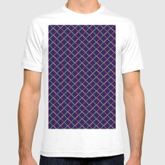 pattern Mens Fitted Tee SMALL White