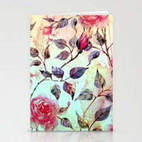 Roses And Splash 2 Stationery Cards
