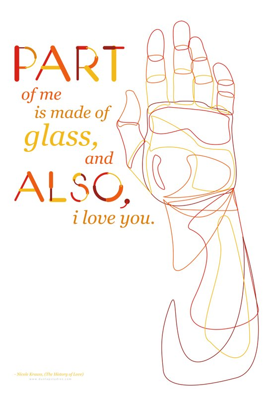 Made of Glass Art Print