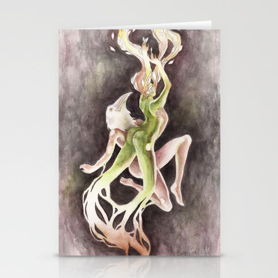 If you can't be my wife, you shall be my tree (Apollo & Daphne) Stationery Card