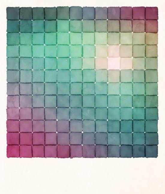 Polaroid Pixels VIII (Glow) Art Print