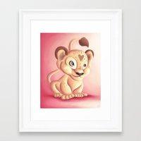 Lena Lioness Framed Art Print
