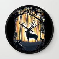 Master Of The Forest Wall Clock