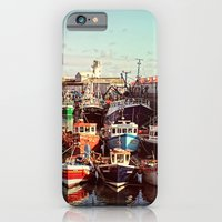 iPhone & iPod Case featuring Boats resting in the Harbour by Elizabeth Wilson Photography