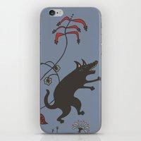 Black Dog Dancing In A G… iPhone & iPod Skin