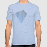 CRYSTAL? Mens Fitted Tee Athletic Blue SMALL