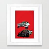 Lancia Stratos Framed Art Print