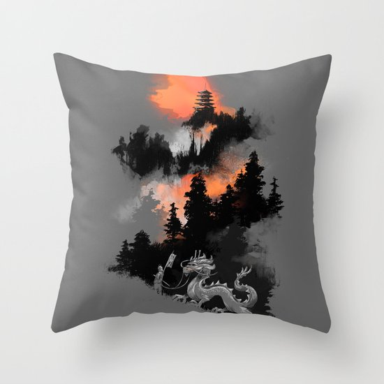 A samurai's life Throw Pillow