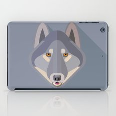Gray wolf iPad Case