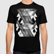 Trianglism  SMALL Mens Fitted Tee Black