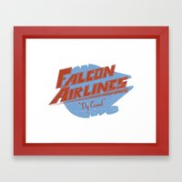 Falcon Airlines Framed Art Print