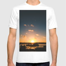Sun is Going Down SMALL Mens Fitted Tee White