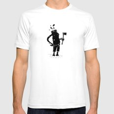 Finished Mens Fitted Tee White SMALL