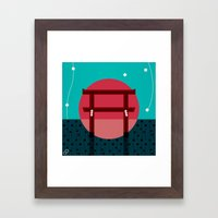 Snowing Sunset Framed Art Print