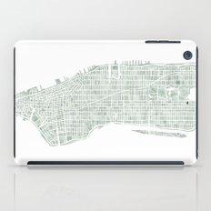 Map Manhattan NYC watercolor map iPad Case