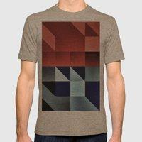 :: Geometric Maze IX :: Mens Fitted Tee Tri-Coffee SMALL