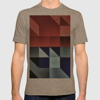 :: geometric maze IX :: Mens Fitted Tee Tri-Coffee SMALL