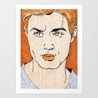 Dotted Dean Art Print