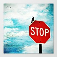 I Stop for Birds Canvas Print