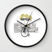 Biking Wall Clock