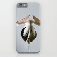 iPhone & iPod Case featuring A Pelican Reflecting by AllanB