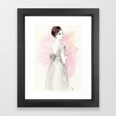 'Olivia' Watercolor Fashion Illustration Framed Art Print
