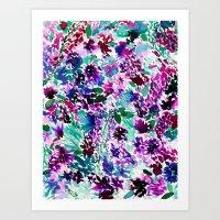 La Flor Plum Art Print