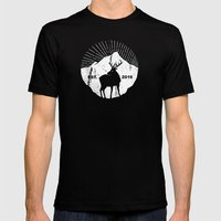 American mountain deer Mens Fitted Tee Black SMALL
