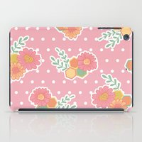 Hexagon floral 1 iPad Case