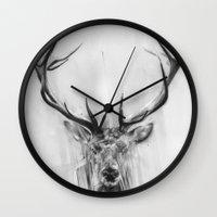 Red Deer Wall Clock