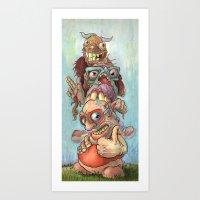 Character Totem Art Print