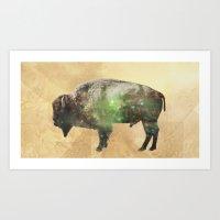Surreal Buffalo Art Print