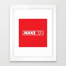 Make People Happy Framed Art Print