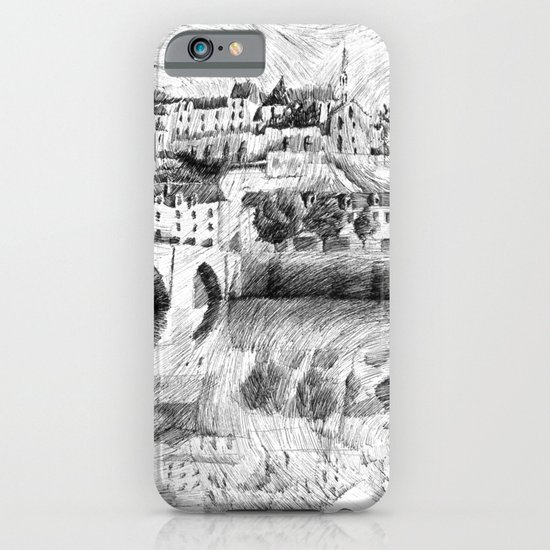 Terrasson village - Black ink iPhone & iPod Case