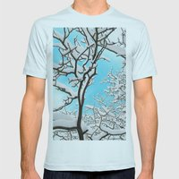 snow Mens Fitted Tee Light Blue SMALL