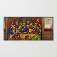 JC: The Last Supper Canvas Print