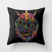 WILD KING Throw Pillow