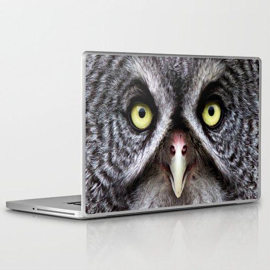 Great Gray Owl Laptop & iPad Skin