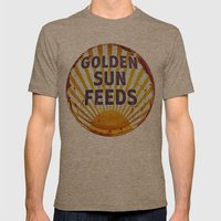 Golden Sun Feeds Mens Fitted Tee Tri-Coffee SMALL