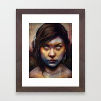 Una Framed Art Print
